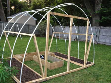 Cannabis greenhouse - add wood frame for door