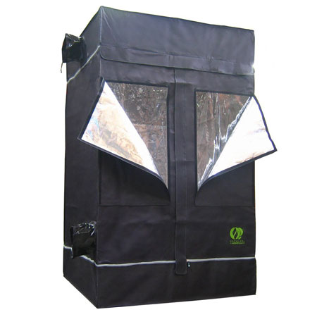 The cannabis grow tent we use