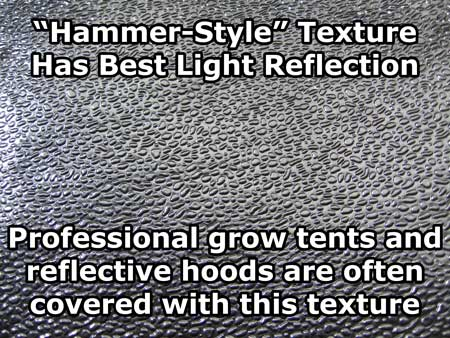 """Hammer-style"" reflection has some of the best light reflectivity"