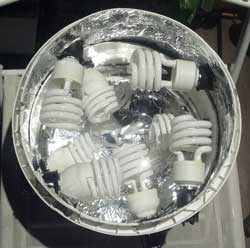 192W of CFLs on a stacked light top (for space bucket)
